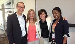 After two days of intense grassroots and PAC leader training, Amy with three of the very best political involvement professionals, l to r: Chad Wilson, Carol Phillips, Amy and Sophia Davis of Nationwide Insurance.